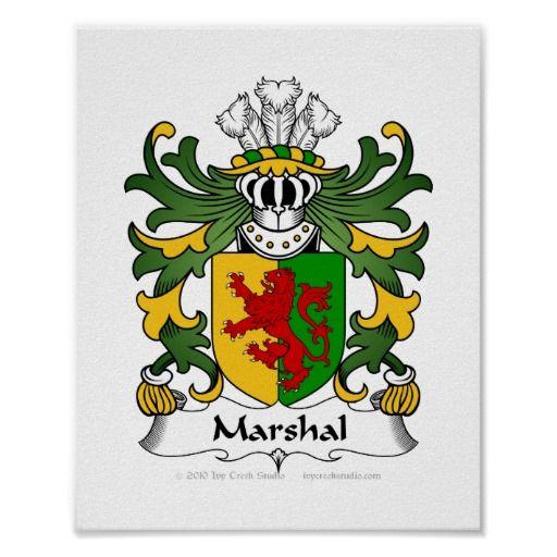Marshal Family Crest Print Semper Virescit Virtus, Meaning