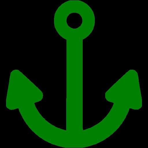 Green Anchor Icon