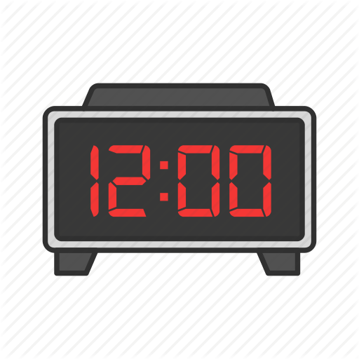 Alarm Clock, Clock, Digital Clock, Midnight Icon
