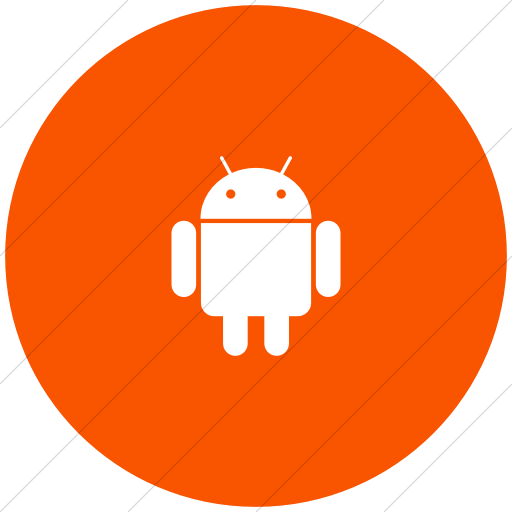 Flat Circle White On Orange Foundation Social Android