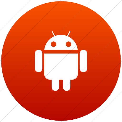 Flat Circle White On Red Gradient Social Media Android Icon