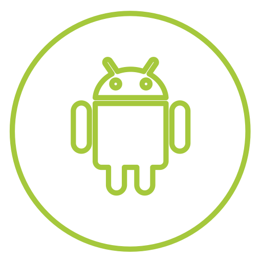 Mobile, Android, Neon, Line, Share, Social, Circles Icon