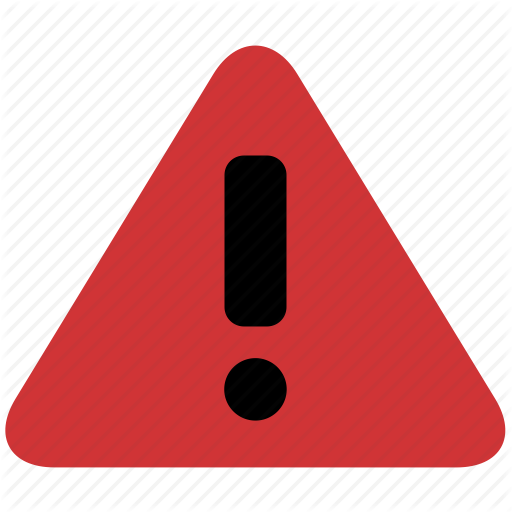 Alert, Attention, Danger, Error, Exclamation, Problem, Problems Icon