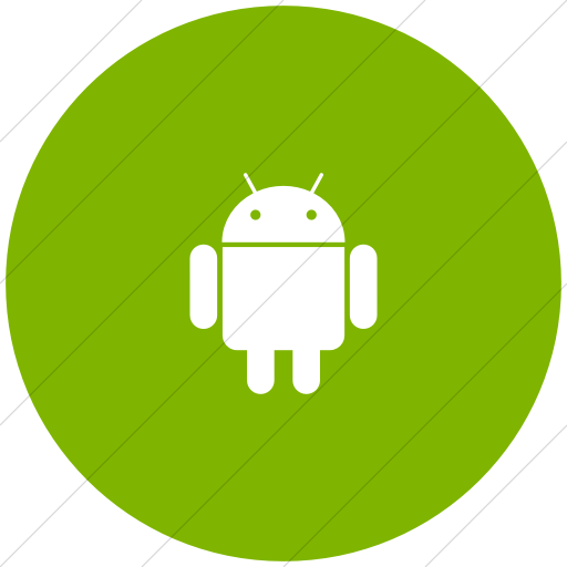 Flat Circle White On Green Foundation Social Android Icon