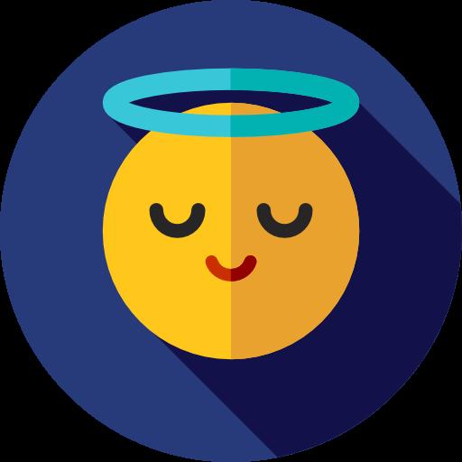Angel, Emoticons, Emoji, Feelings, Smileys Icon