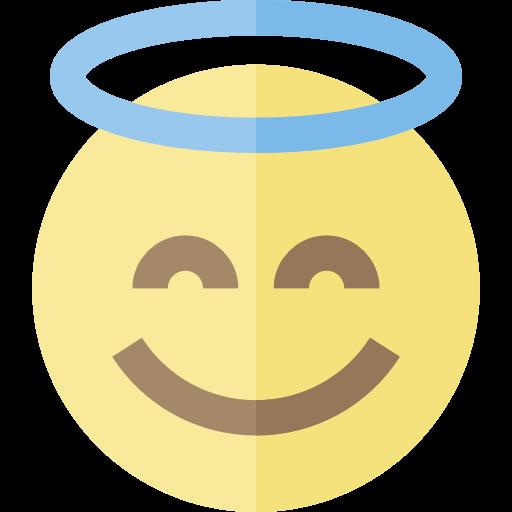 Smileys, Angel, Emoticons, Emoji, Feelings Icon