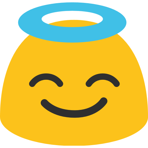 Smiling Face With Halo Emoji For Facebook, Email Sms Id