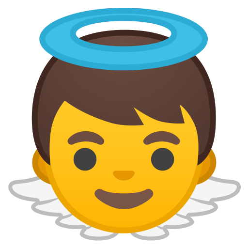 Baby Angel Icon Noto Emoji People Family Love Iconset Google
