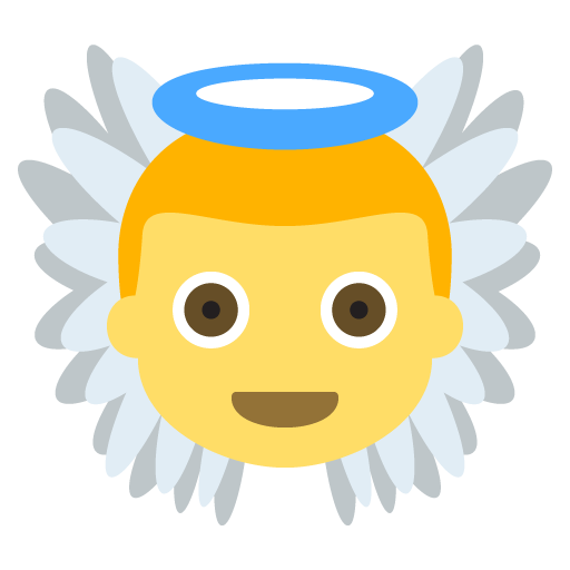 Baby Angel Emoji For Facebook, Email Sms Id