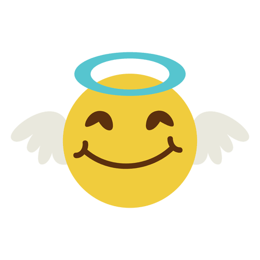 Smiling Angel Face Emoticon