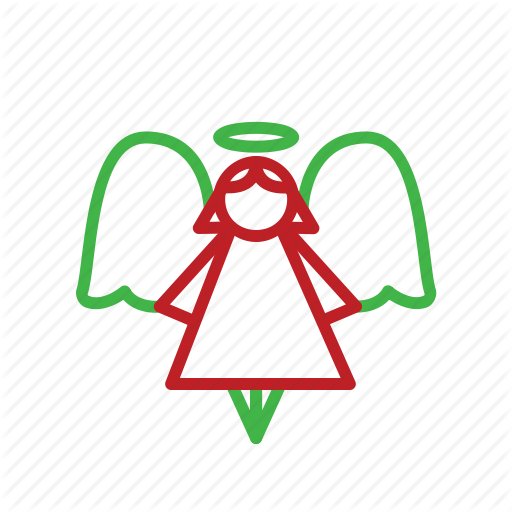Angel, Christmas, Halo, Holiday, Ornament, Stroke, Wings Icon