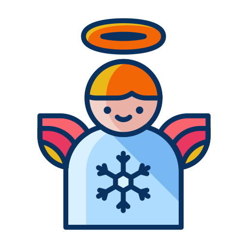 Christmas, Angel, Winter, Decoration, Wings, Decorate Icon