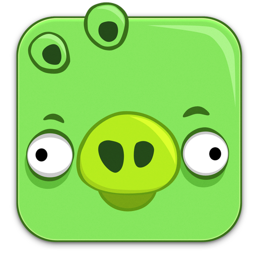 Angry, Birds, Pig Icon