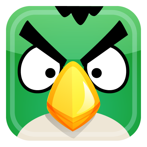 Green Bird Icon Angry Birds Iconset Fast Icon Design