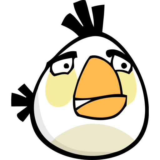 White Angry Bird White Bird Angry Angry Birds Icon