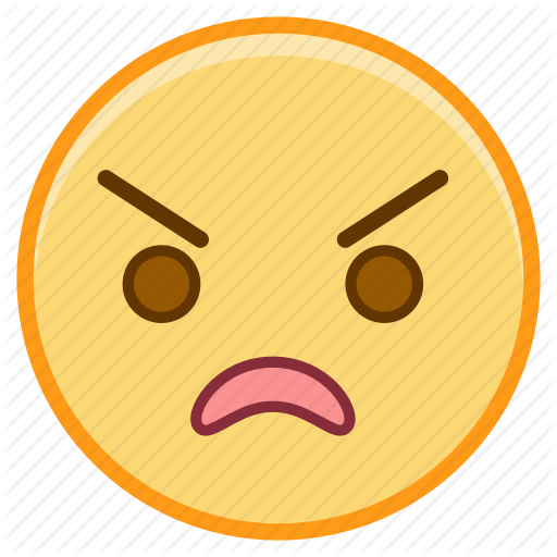 Angry, Emoji, Emoticon, Emotion, Face, Sticker Icon