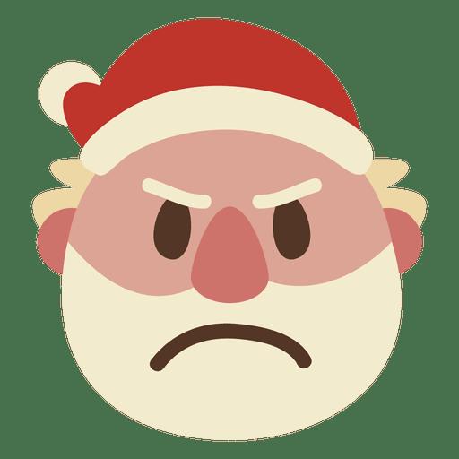 Angry Santa Claus Face Emoticon