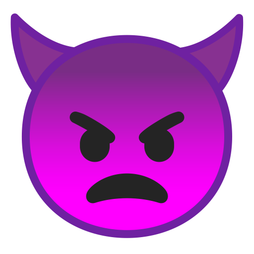 Angry Face With Horns Icon Noto Emoji Smileys Iconset Google