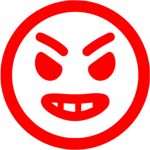 Red Angry Icon