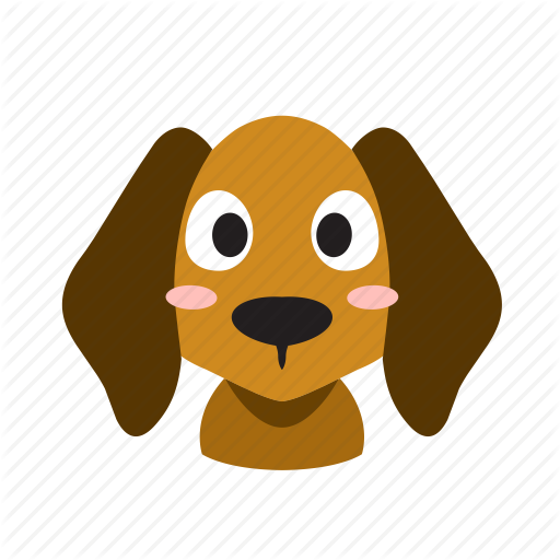 Animal, Cute, Dog, Domestic, Front, Head, Pet Icon