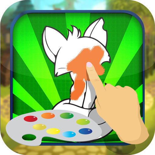 Coloring Book Game For Kids Animal Jam Version