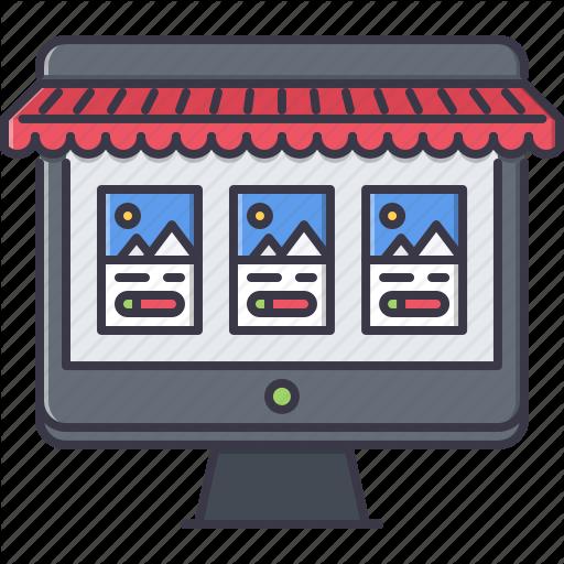 Commerce, Computer, Desktop, Market, Monitor, Shop, Shopping Icon