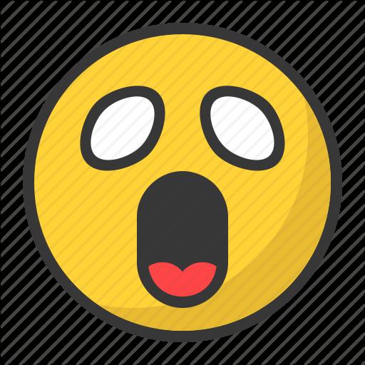 Anime, Emoji, Emoticon, Manga, Scared, Surprised Icon