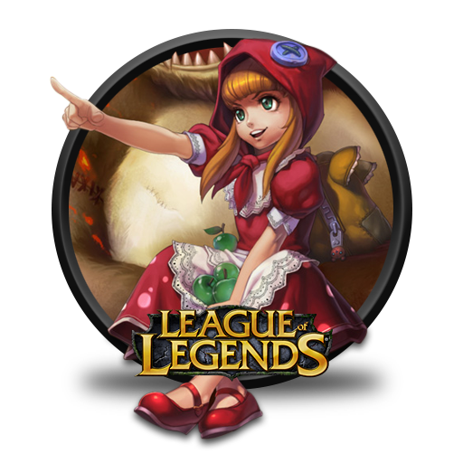 Annie Red Riding Chinese Artwork Icon League Of Legends Iconset