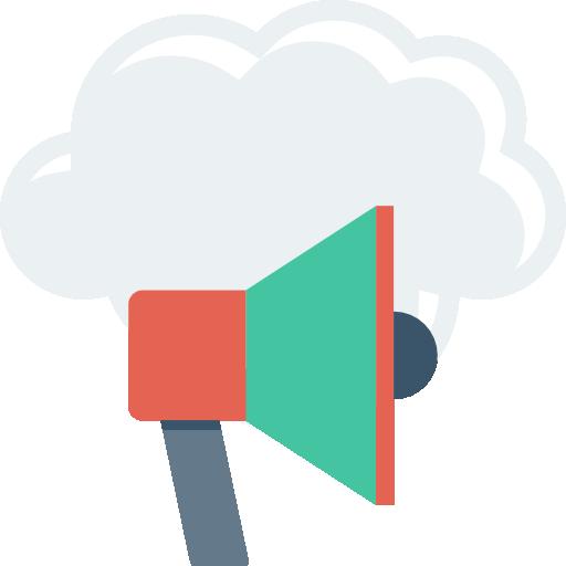 Announcement Icon Cloud Computing Dinosoftlabs
