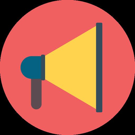 Megaphone, Sound, Notification, Announcement Icon