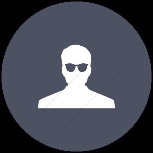 Flat Circle White On Blue Gray Raphael Anonymous Icon