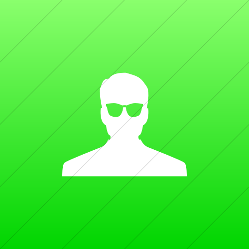 Flat Square White On Ios Neon Green Gradient Raphael
