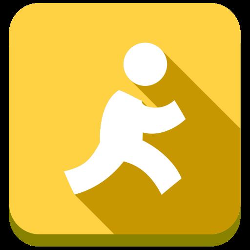 Aol Flat Icon