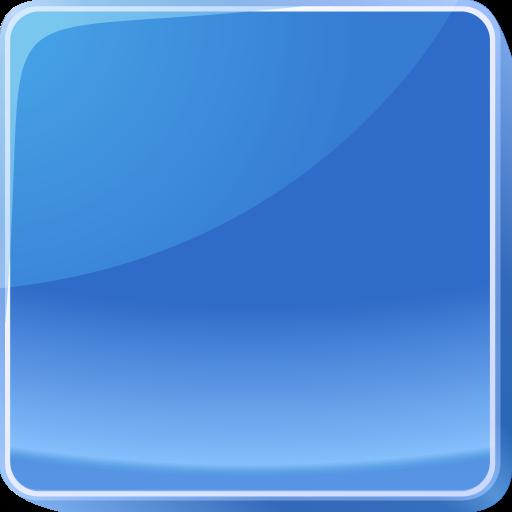 Dark Blue Button Icon