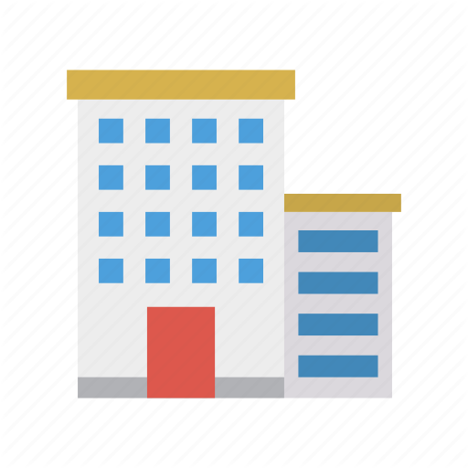 Apartment, Building, Plaza, Tower Icon