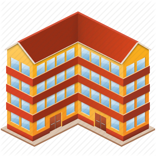 Pictures Of Flat Building Icon
