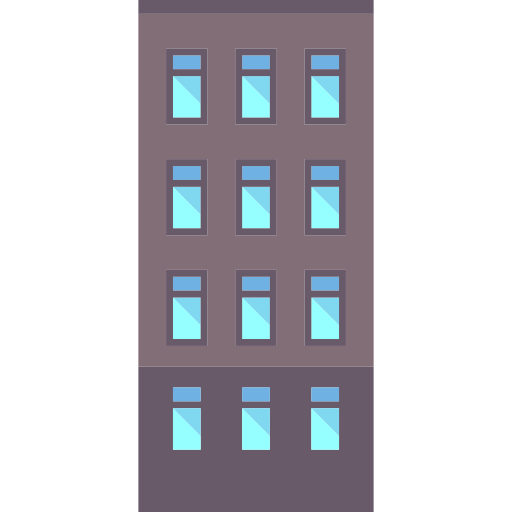Residential, Apartments, Real Estate, Buildings, Property Icon