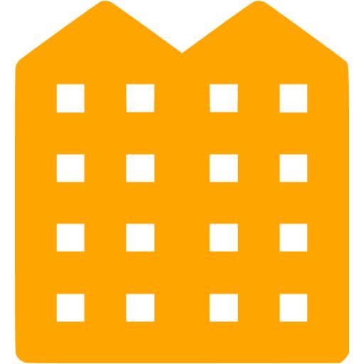 Orange Apartment Icon