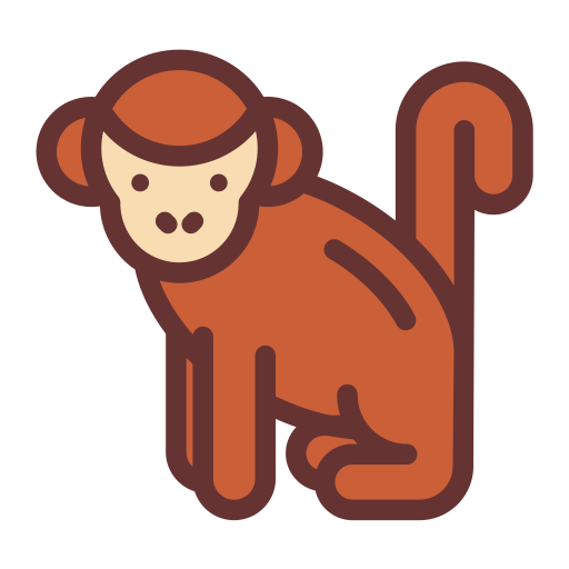 Ape Creates Ape Mark, Forest Monkey, Monkey Icon With Png