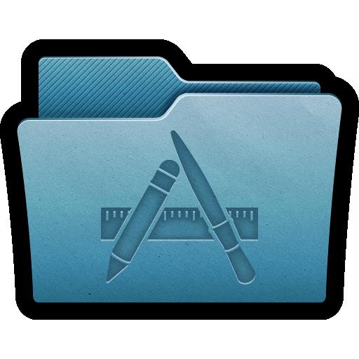 Folder Apps Icon Mac Folders Iconset Hopstarter Apps Icon