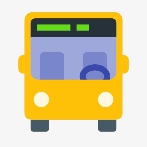 App Icon,cartoon,simple, Cartoon, Simple, Bus Png Image