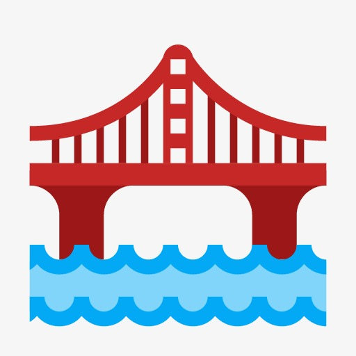 App Icon,cartoon,simple, Cartoon, Simple, Red Bridge Png Image