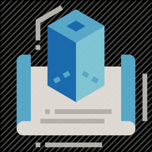 Dimension, Mockup, Model, Prototyping Icon