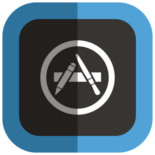 App Store Icon Folded Social Media Iconset Uiconstock