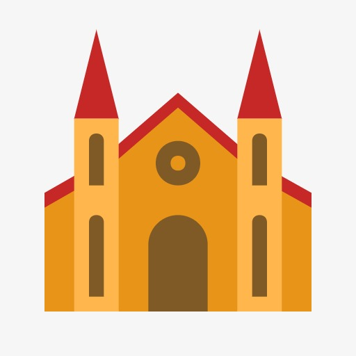 App Icon,cartoon,simple, Cartoon, Simple, Church Png Image