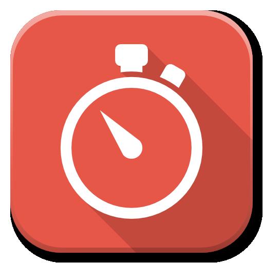 Apps Stopwatch Icon Flatwoken Iconset Alecive