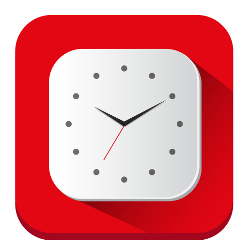 Clock Icon Long Shadow Iconset Pelfusion