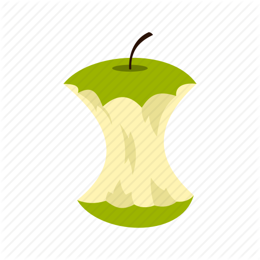 Apple, Apple Core, Bitten, Core, Food, Fruit, Logo Icon