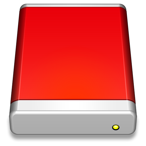 External Drive Red Icon Smooth Leopard Iconset Mcdo Design