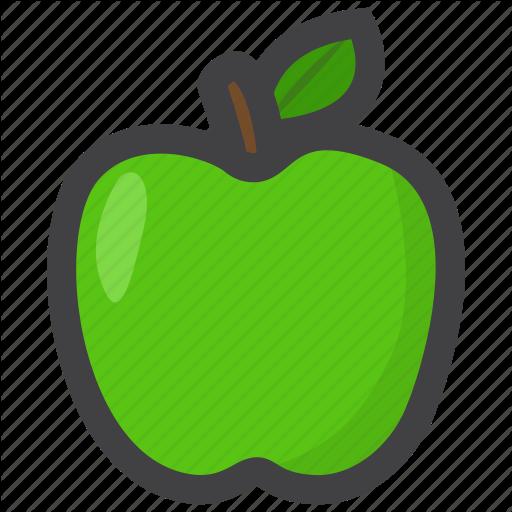 Food, Fruit, Green Apple Icon